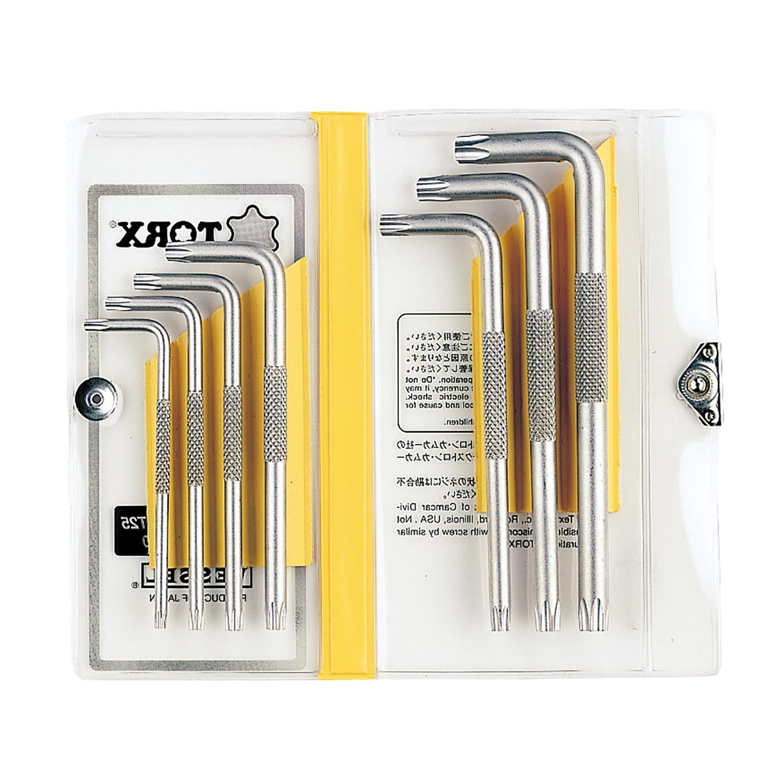 TORX 7-Piece Key Wrench Set No.8507TX(8500TX 7PC Set)